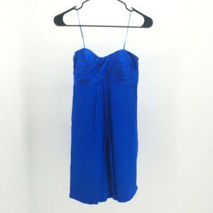 Cache Strapless Dress Party Tiered Polyester Chiff